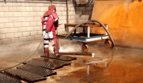 hidrojato para limpeza de superfícies